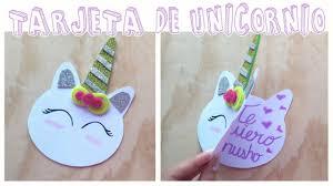 Tarjeta Con Forma De Unicornio Candy Bu Youtube