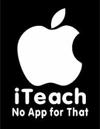I Teach No App For That Teacher Decal With Apple Vinyl Car Window Sticker Ebay