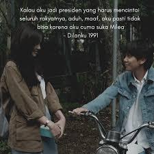 quotes cinta dilan bikin cewek baper dan senyum senyum sendiri