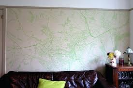 walls to wallpaper in a living room