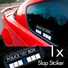 Buy Doctor V1 Police Box Bigger Inside Tardis Dalek Printed Box Slap Bumper Car Vinyl Sticker