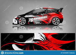 Car Decal Wrap Design Vector Stock Illustration Illustration Of Livery Adventure 151334328