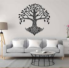 Amazon Com Tree Of Life Wall Decals For Living Room Celtic Tree Of Life Wall Decal Tree Of Life Wall Decor Tree Of Life Wall Art Large Wall Stickers Ik3339 Handmade