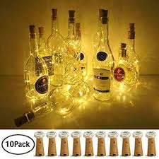 lovenite wine bottle lights with cork