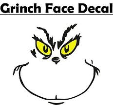 Grinch Face Inspired 3 Vinyl Decal Sticker For Christmas Ornaments Tumblers Ebay