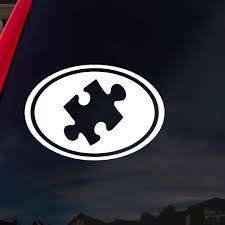 Amazon Com Socooldesign Autism Puzzle Piece Car Window Vinyl Decal Sticker 5 Wide White Automotive