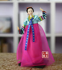 Korean silk doll features North Korean ornaments Han dress Juan ...