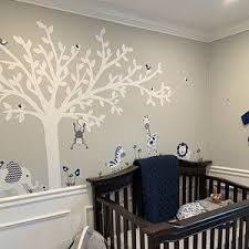 White Tree Wall Decal Owl Wall Decal Owl Tree Wall Sticker Etsy Owl Wall Decals Wall Decals Toddler Nursery Wall Decals