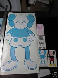 Kaws Custom Wall Decal Original Fake Bape 50 X 25 98984947