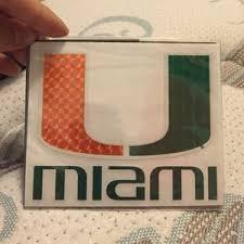 University Of Miami Other Car Decal Poshmark
