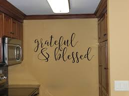 Ebern Designs Grateful And Blessed Vinyl Words Wall Decal Wayfair