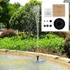 solar powered water fountain garden