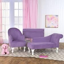 Diva Chaise Kids Loveseat Lavender Homepop Kids Chaise Minimalist Kids Room Kids Sofa