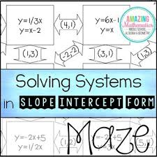 solving systems of equations maze