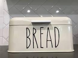 Rae Dunn Inspired Diy Custom Vinyl Bread Box Rustic Bread Boxes Renters Decorating Custom Vinyl