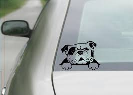 English Bulldog Decal Bulldog Decal Car Decal Laptop Etsy