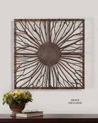 natural branch wall art western passion