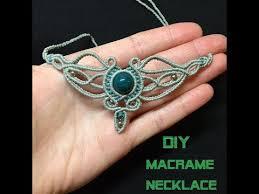 diy macrame necklace tribal necklace