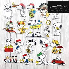 20pcs Funny Cute Snoopy Stickers For Laptop Car Styling Phone Luggage Bike Motorcycle Mixed Cartoon Pvc Waterproof Cartoon Decal Car Stickers Aliexpress