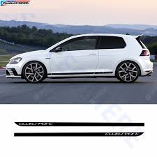 Carbon Fiber Decal Car Side Skirt Stickers Automobiles Accessories For Volkswagen Golf 7 Mk7 Sale Price Reviews Gearbest