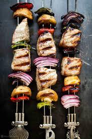 Grilled Tuna Kebabs Recipe ...