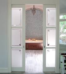 traditional bathroom sliding glass