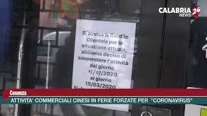 Cosenza: Attività commerciali cinesi in ferie forzate per il ...