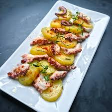 Rosmary glazed warm octopus and potato ...