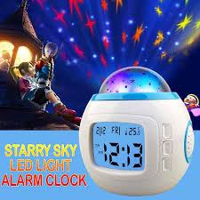 Children Room Starry Sky Night Light Projector Bedroom Lamp Music Alarm Clock Hk For Sale Online Ebay