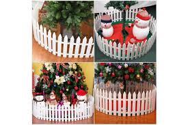 Tinksky White Plastic Picket Fence Miniature Home Garden Christmas Xmas Tree Wedding Party Decoration 25 Pieces Matt Blatt