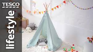 How To Make An Indoor Teepee For Kids Tesco Youtube