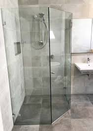 custom frameless hinged corner shower