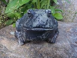 vintage cement concrete frog garden