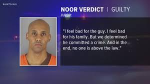 Noor found guilty of 3rd-degree murder ...