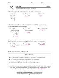 logarithmic equations form k answers