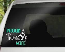 Proud Towboater S Wife Decal Etsy