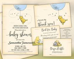 pooh baby shower template set classic