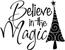 Believe In The Magic Christmas Decor Vinyl Decal Wall Stickers Words Lettering