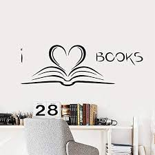 Amazon Com Laxis Book Wall Decal Nordic Books Wall Sticker Study Art Wallpaper Bedroom Decor For Children S Room Kids Room Library Decoration Mural Home Kitchen