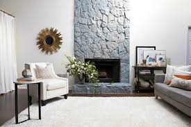 stone fireplace painting a very cozy home