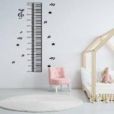 Height Growth Chart Piano Music Note Wall Sticker Nursery Kids Room Height Measure Ruler Growth Chart Wall Decal Vinyl Home Art Wall Stickers Aliexpress