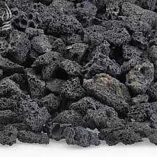 black lava fire rock for fire pits