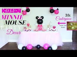 minnie mouse diy party decorations