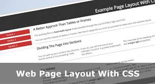 web page layout with css no tables or