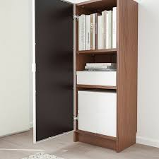 IKEA - BILLY / MORLIDEN Bookcase with glass-door brown ash veneer ...