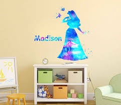 Sleeping Beauty Aurora Wall Decal Personalized Girl Name Wall Etsy