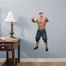 Fathead John Cena X Large Officially Licensed Wwe Removable Wall Decal Walmart Com Walmart Com
