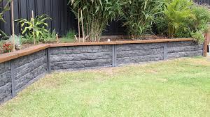 Ridgi Concrete Retaining Walls Bunnings Warehouse In 2020 Concrete Retaining Walls Backyard Retaining Walls Landscaping Retaining Walls