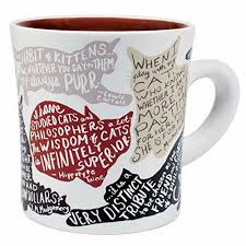 literary cat quotes mug gift coffee cup new from manufacturer