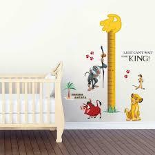 Lion King Simba Height Chart Wall Sticker Decal Decor Art Nursery Disney Wc102